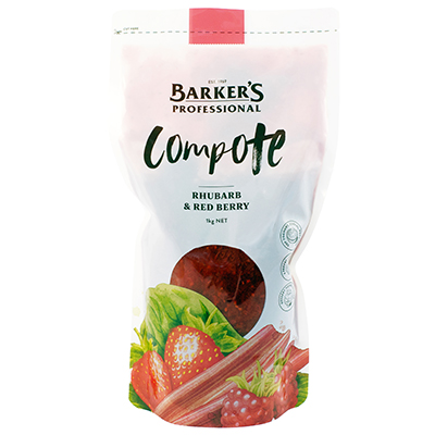Barker's Rhubarb & Redberry Compote 1kg