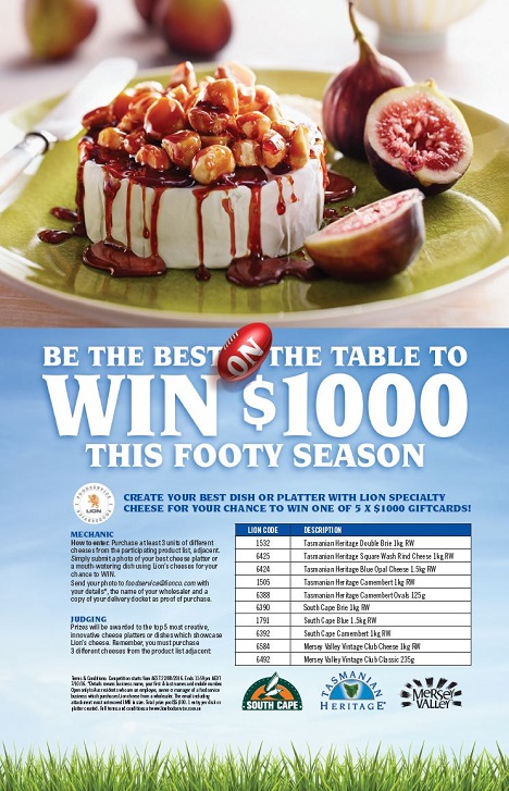 Lion Footy Finals Competition Flyer Image