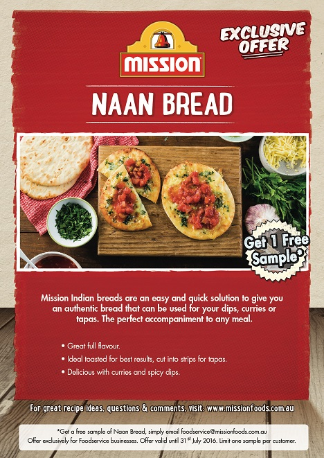 Mission Naan Bread Promo
