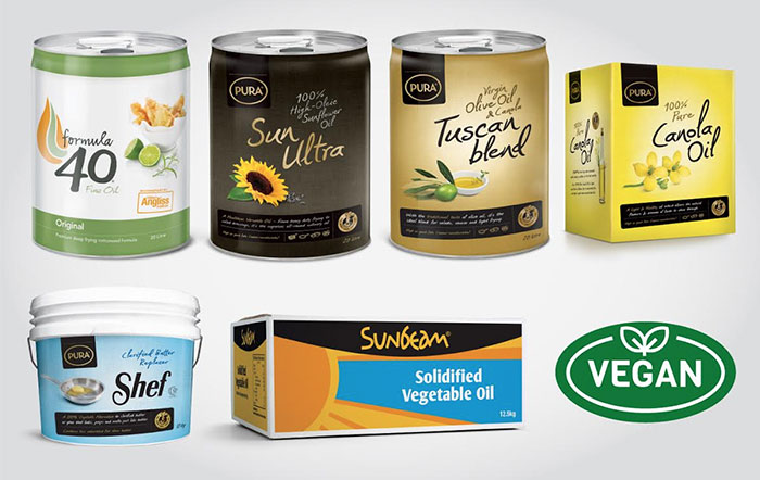 Peerless Foodservice - Vegan Oils - Formula 40, Sun Ultra, Tuscan Blend, Shef, Sunbeam Vegetable Oil