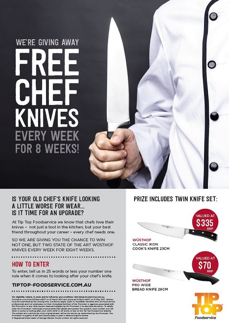 Chef Knife Giveaway Flyer Cover