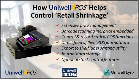 How Uniwell4POS Helps Control Retail Shrinkage
